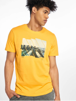 Jack & Jones T-Shirt jcoSpring-Feel goldfarben