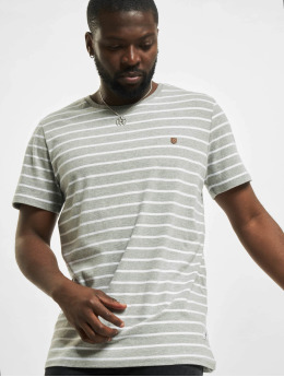 Jack & Jones T-Shirt jprBlutom Stripe grau