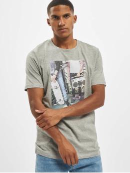 Jack & Jones t-shirt jorCloseup Organic Crew Neck FST  grijs