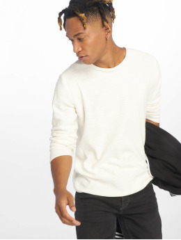 Jack & Jones T-Shirt manches longues jjeSlub Knit blanc