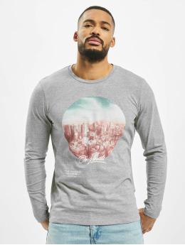 Jack & Jones T-Shirt manches longues jorUptown  gris