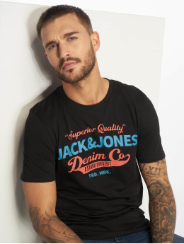 Jack & Jones T-Shirt jjeLogo schwarz