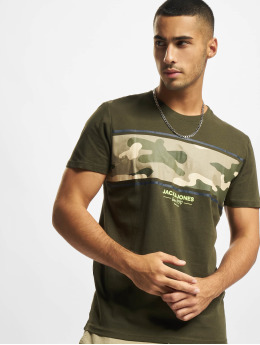Jack & Jones T-Shirt Jjsoldier vert