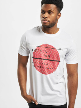 Jack & Jones T-Shirt jcoGrid Crew Neck weiß