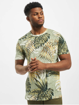 Jack & Jones T-Shirty jorEli Organic AOP Crew Neck bialy