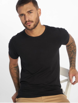 Jack & Jones T-Shirty Basic O-Neck czarny