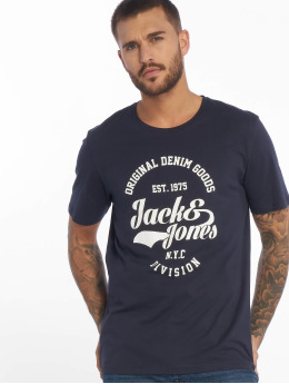 Jack & Jones T-Shirty jjeRafa niebieski