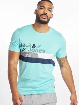 Jack & Jones T-Shirty jcoStairs niebieski