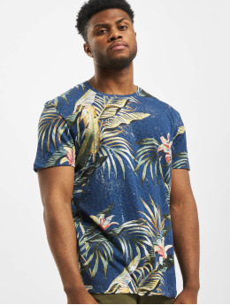 Jack & Jones T-Shirty jorEli Organic AOP Crew Neck niebieski