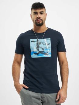 Jack & Jones T-Shirty jcoSignal niebieski