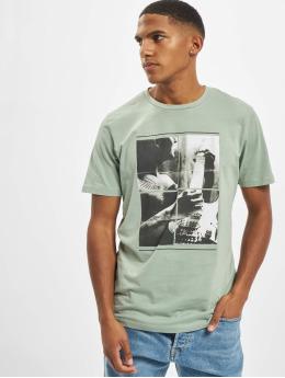 Jack & Jones T-Shirty jorCloseup Organic Crew Neck FST zielony