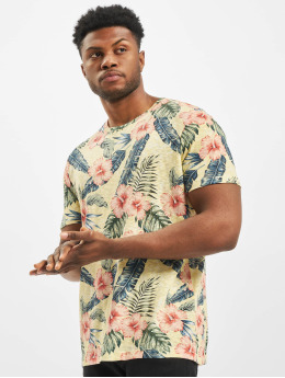Jack & Jones T-Shirty jorEli Organic AOP Crew Neck zólty