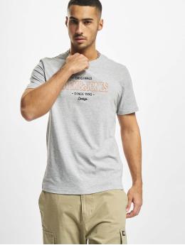 Jack & Jones T-skjorter Jorsurface Branding Crew Neck BF grå