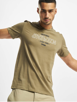 Jack & Jones T-skjorter Jorsurface Branding Crew Neck BF grøn