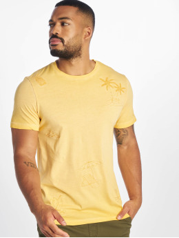 Jack & Jones T-skjorter jorKarsen  gul