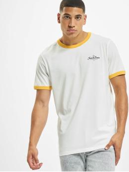 Jack & Jones T-skjorter jorCalli Ringer Organic gul