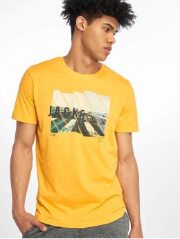Jack & Jones T-skjorter jcoSpring-Feel gull