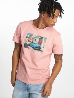 Jack & Jones T-skjorter jorLandon rosa