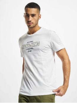 Jack & Jones Tričká Jorsurface Branding Crew Neck BF biela