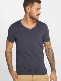 Jack & Jones Tričká Basic V-Neck modrá