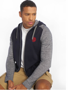Jack & Jones Zip Hoodie jcoRetro Knit blå