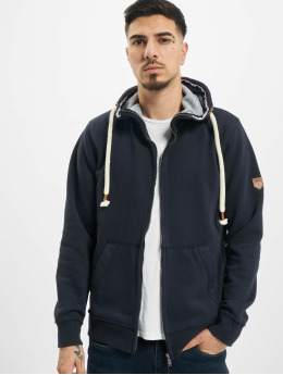 Jack & Jones Zip Hoodie jprBlutom High Neck modrá