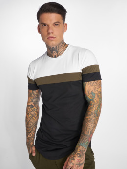John H T-Shirt Stripes blanc
