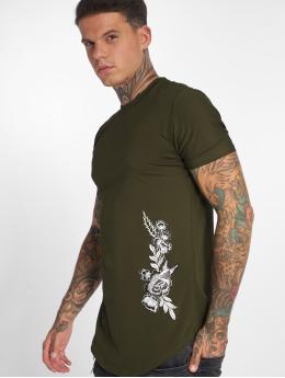 John H T-Shirt Flowers vert
