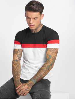 John H T-Shirty Stripes czarny
