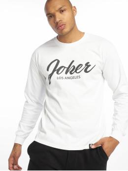 Joker Camiseta de manga larga Script blanco