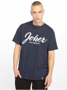 Joker t-shirt Script blauw