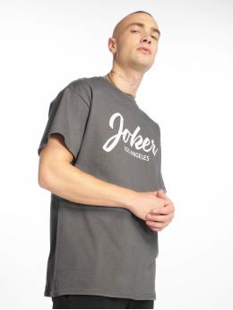 Joker t-shirt Script grijs