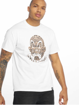 Joker T-Shirt Aztec Clown weiß