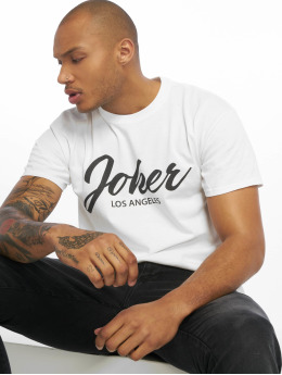 Joker T-Shirty Script bialy