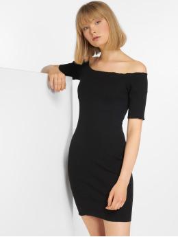 Joliko Kleid Ripp schwarz