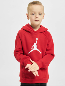 Jordan Bluzy z kapturem Jumpman Logo czerwony