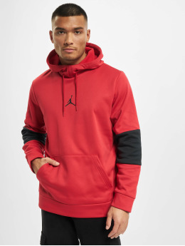 Jordan Bluzy z kapturem Air Therma Fleece czerwony