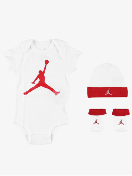 Jordan Body Jumpman Hat/Bodysuit/Bootie 3 Pieces  bianco