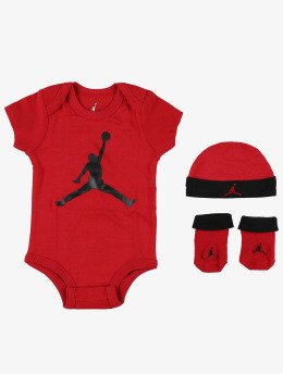 Jordan Kinder Body Jumpman Hat/Bodysuit/Bootie 3 Pieces in rot