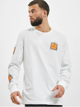 Jordan Camiseta de manga larga Keychain  blanco
