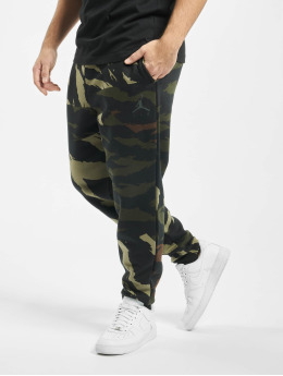 Jordan joggingbroek Jumpman Fleece Camo olijfgroen