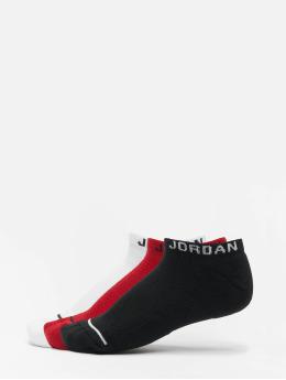 Jordan Skarpetki Jumpman No Show 3 Pack czerwony