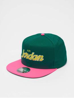 Jordan Snapback Caps Pro Script zelený