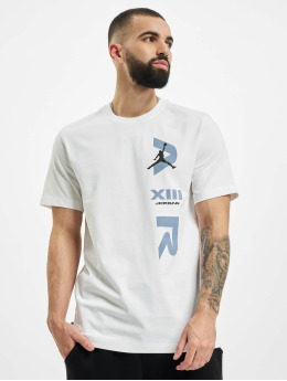 Jordan T-skjorter Legacy AJ13 hvit