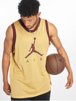 Jordan Tank Tops Jumpman Air Mesh Jersey gold