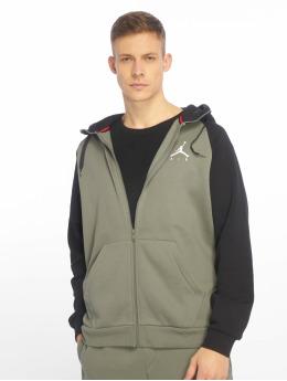 Jordan Zip Hoodie Sportswear Jumpman Fleece olivový