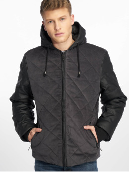 Just Rhyse Manteau hiver Quilted gris