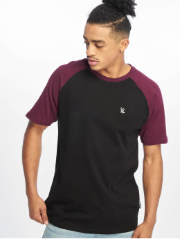 Just Rhyse Monchique T-Shirt Black/ Burgundy
