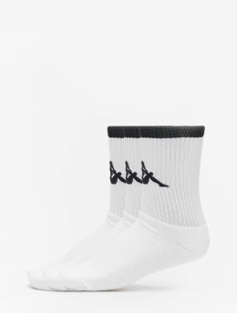 Kappa Chaussettes Exton Trainer 3er Pack blanc
