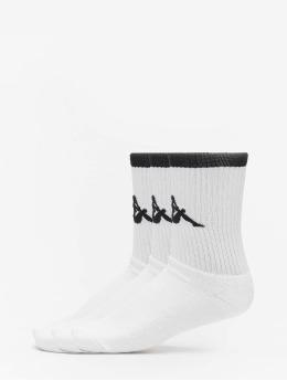 Kappa Socks Exton Trainer 3er Pack white